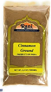 Rani Cinnamon Powder (Ground) Spice 3.5oz (100g) ~ All Natural, Salt-Free | Vegan | No Colors | Gluten Free Ingredients | ...