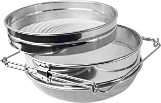 VIVO Stainless Steel Honey Strainer Double Sieve | Bee Keeping Equipment Filter (BEE-V101H)