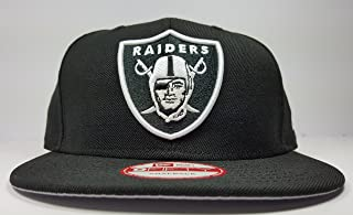 New Era Los Angeles Raiders 9Fifty Black and White Solid Basic Logo Adjustable Snapback Hat NFL