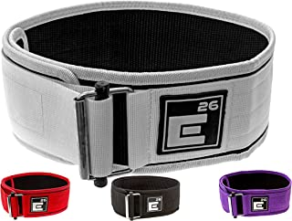 Element 26 Self-Locking Weight Lifting Belt | Premium Weightlifting Belt for Serious Crossfit, Weight Lifting, and Olympic Lifting Athletes | Lifting Belt for Men and Women | Workout Belt for Lifting