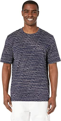 Cotton Jersey Printed Fiammato T-Shirt