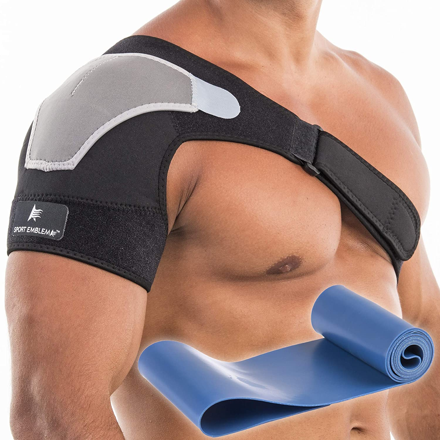 Shoulder Brace for Women or Men, Shoulder Support for Torn Rotator Cuff, Compression Sleeve for Pain Relief, Stability Brace and Shoulder Immobilizer for Dislocation, Subluxation (Small-Medium): Industrial & Scientific
