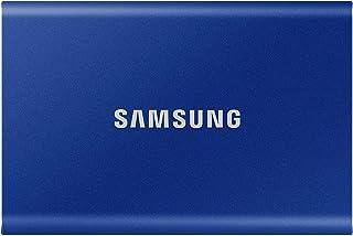 Samsung T7 1TB USB3.2 Type-C Aluminium Case Portable SSD, Indigo Blue