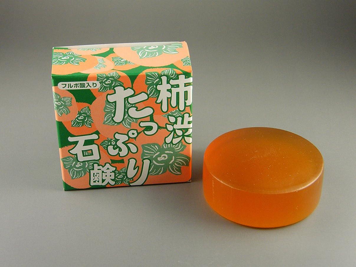 ヒューマニスティック後者反響する柿渋たっぷり石鹸 100g(フルボ酸入り)