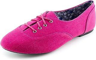 Kali Womens Lace Up Canvas School Dress Shoes (Adults)