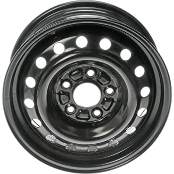 Road Ready Car Wheel For 2011-2017 Hyundai Elantra 16 Inch 5 Lug Black Steel Rim Fits R16 Tire Exact OEM Replacement Full-Size Spare