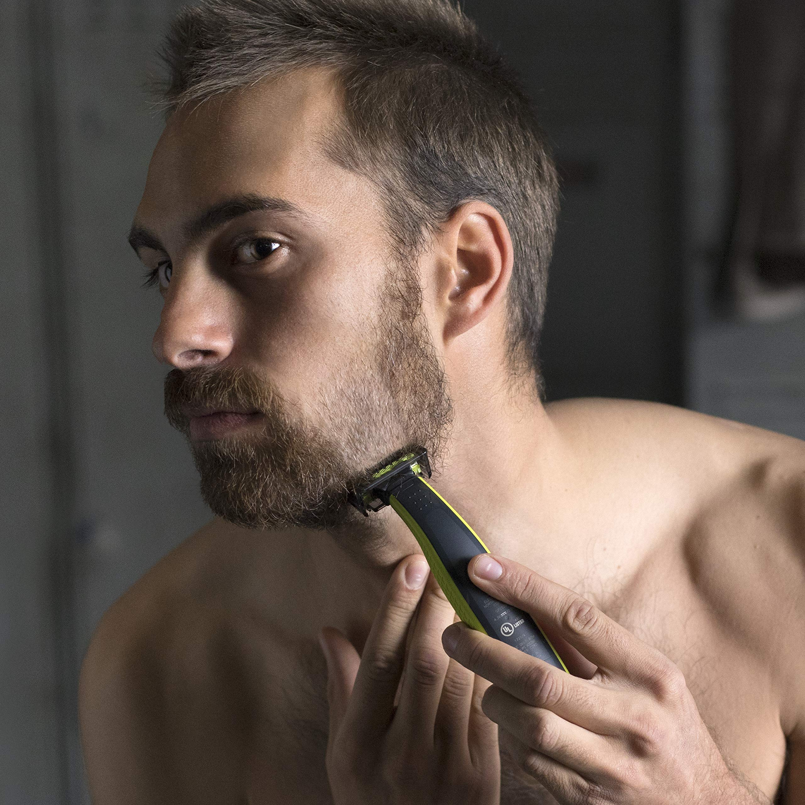 Philips OneBlade Hybrid Stubble Trimmer & Shaver with 3 x Lengths & 1 Extra Blade Amazon Exclusive (UK 2-Pin Bathroom Plug) - QP2520/30