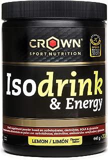 Crown Sport Nutrition Isotonic Drink con certificación antidoping Informed Sport, Bebida isotónica con carbohidratos, BCAAs, glutamina y electrolitos para deportistas, Sabor de Limón - 640 g