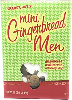 2 Boxes of Trader Joe's Mini Gingerbread Men with White Fudge Icing