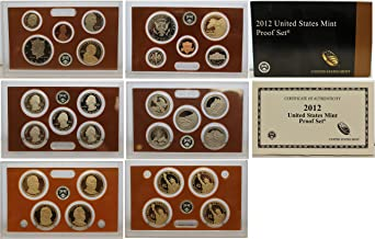 2012 United States 14-coin Proof Set - OGP box & COA