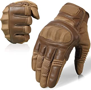 AXBXCX Touch Screen Full Finger Gloves for Motorcycles Cycling Motorbike ATV Bike Camping Climbing Hiking Work Outdoor Sports Men Women Brown M