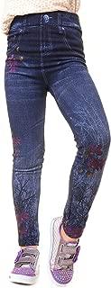 Girl's Fleece Lined Faux Denim Leggings
