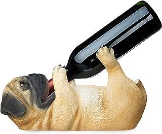 TRUE Pug Wine Bottle Holder, One Size