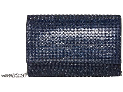 Jessica McClintock Alexis Sparkle Clutch (Navy) Clutch Handbags