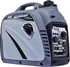 Pulsar 2,000W Portable Gas-Powered Quiet Inverter Generator with USB Outlet & Parallel Capability in Space Gray, CARB Compliant, PG2000iSN