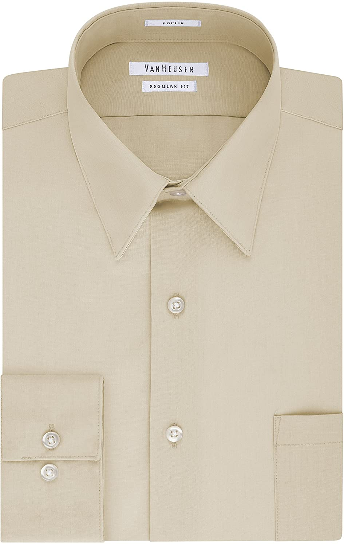 Mens Vintage Shirts – Casual, Dress, T-shirts, Polos Van Heusen Mens Dress Shirt Regular Fit Poplin Solid  AT vintagedancer.com