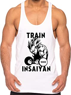 THE LION Vegeta Train Insaiyan de los Hombres Camisa del músculo One Goku Dragon Master Son Ball Vegeta Turtle Roshi Piece...
