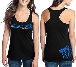 Moto Wife Motocross Racerback Tank Top Number Plate Custom Personalized Shirt