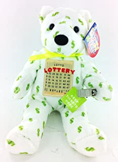 Lottery Lucky Bear Plush Holds Tickets and Money