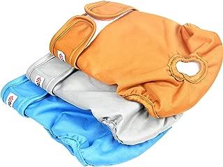 wegreeco Washable Female Dog Diapers (Pack of 3)