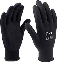 Meister Handschoenen maat 11 / XXL - zwart - 12 paar in praktische set - gecoate handpalmen - goede grip & tastgevoelig/be...