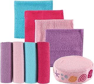 Luvable Friends 8 Piece Washcloths and Bonus Sponge, Pink Shell