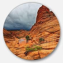 Designart MT12246-C23 Vermillion Cliffs Wilderness Landscape Circle Wall Art- Disc of 23,Orange,23 X 23