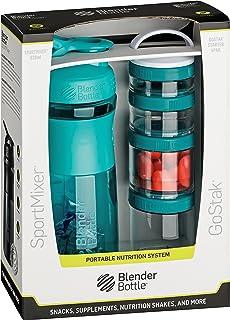 BlenderBottle Combo Pak – Sportmixer Shaker 820 ml kapacitet och GoStak Starter 4 pack med handtag i attraktiv presentförp...