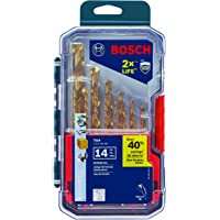 14 Piece Bosch TI14 Titanium Metal Drill Bit Set