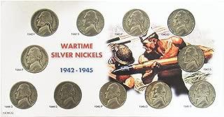 1942-1945 Wartime Silver Nickel 11 Coin Set Circulated