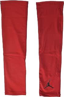 The Jumpman Design Jordan Shooter Basketball Compression Sleeve (2 Pack) (Large/XLarge, Gym Red/Black)