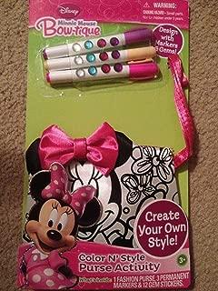 Minnie Mouse Bow-tique Color N' Style Purse Activity