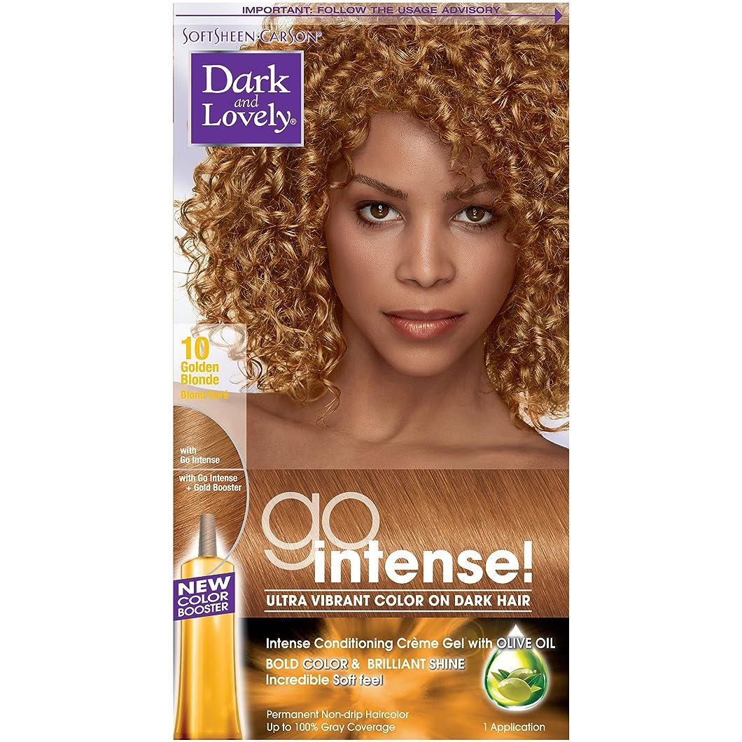 マークされた瀬戸際権限SoftSheen-Carson ダーク、暗い髪に美しいゴーインテンス超明るい色、ゴールデン?ブロンド10(梱包は変更になる場合があります) 1つのEA ゴールデンブロンド