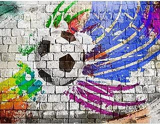 Papel Pintado Fotográfico Fútbol de graffiti 308 x 220 cm Tipo Fleece no-trenzado Salón Dormitorio Despacho Pasillo Decoración murales decoración de paredes moderna - 100% FABRICADO EN ALEMANIA - 9021010b