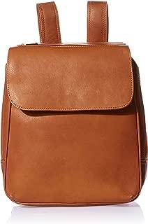 Piel Leather Flap-Over Tablet Backpack, Saddle