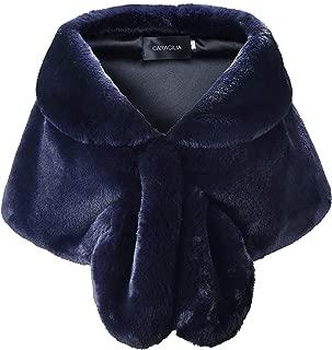 navy blue fur wrap
