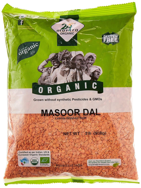 24 Mantara Popular Mantra Organic Masoor Dal Lb Pound - 2 Super sale