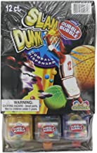 Kidsmania Slam Dunk Dubble Bubble Gumball Dispenser, 0.42-Ounce Candy-Filled Dispensers (Pack of 12)