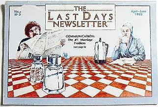 The Last Days Newsletter, Volume 5 Number 3, April/June 1982