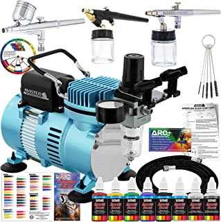 Master Airbrush Professional Cool Runner II Dual Fan Air Compressor Airbrushing System..