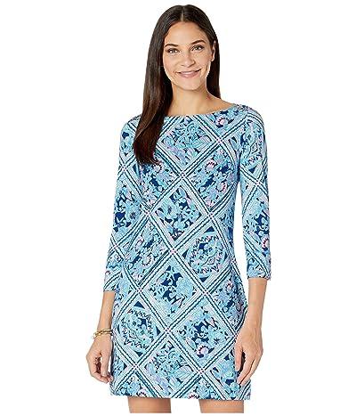 Lilly Pulitzer UPF 50+ Sophie Dress (Zanzibar Blue Meet Me On The Dock) Women