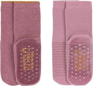 Lässig, Anti-slip Socks 2 Pcs. Assorted Rosewood/rose, Size: 27-30 Calcetín pantufla, 30 para Niñas