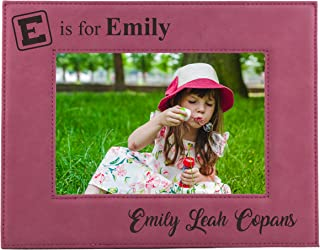 Personalized Kids Picture Fame - New Baby Girl Boy Nursery Decor Photo Frame - Custom Engraved for Free (4 x 6)
