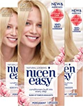 Clairol Nice'n Easy Permanent Hair Color, 10C Extra Light Cool Blonde, 3 Count
