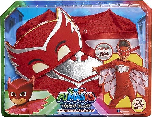 PJ Masks Turbo Blast Dress Up Set Owlette, Multi-Color (24863)