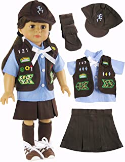 American Fashion World Girl Scout Brownie Outfit   Fits 18