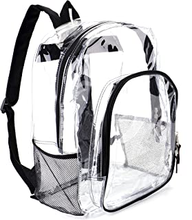Heavy Duty Transparent Clear Backpack See Through Backpacks for School,Sports,Work,Stadium,Security Travel,College