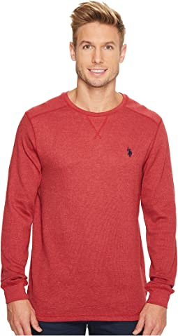 Classic Fit Solid Long Sleeve Crew Neck Shirt
