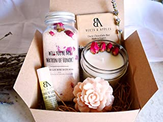 Matron of Honor Gift Set, Matron of Honor Proposal Gifts, Will you be my Matron of Honor Gift, Rose Spa Matron of Honor Proposal Gift