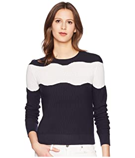 Long Sleeve Knit with Contrasting Motif